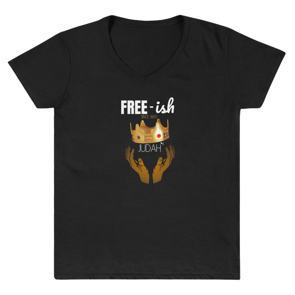 JF Free-ish Women's Casual V-Neck Shirt