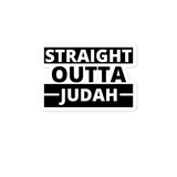 Straight Outta Judah Bubble-free stickers