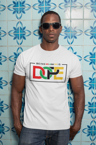 Men's Being Melanated Heavy Cotton Adult T-Shirt