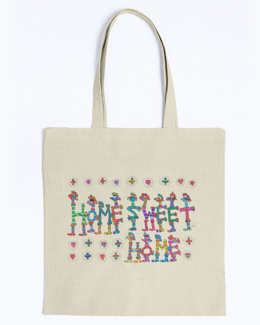 Home Sweet Home Lightweight Canvas Tote