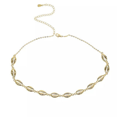 Shell chocker gold