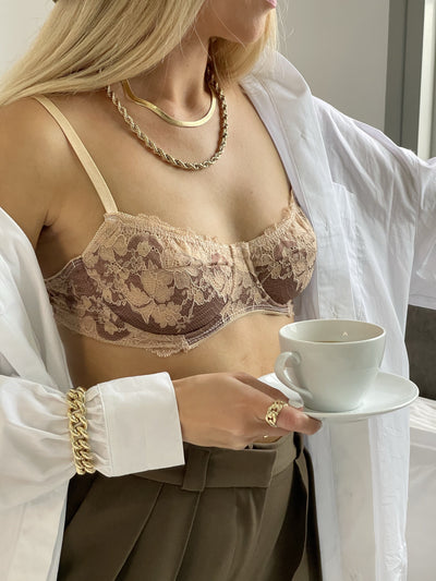 Brown underwire Bra