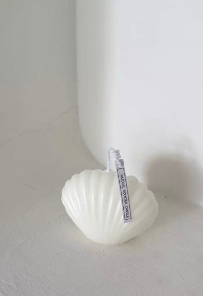 White shell candle