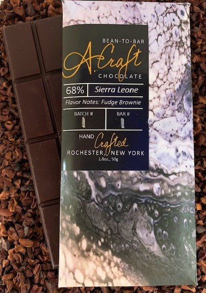 Sierra Leone 68% Single Origin Bar, 1.8oz.