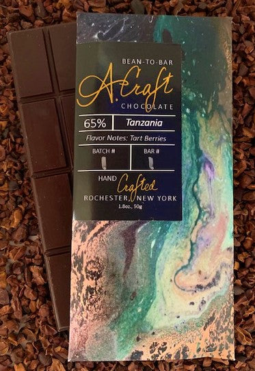 Tanzania 65% Single Origin Bar, Organic, 1.8oz.