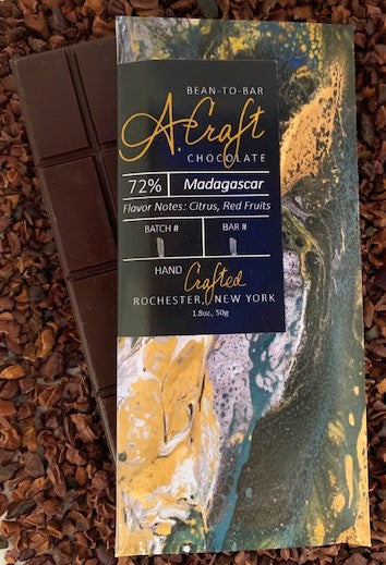 Madagascar 72% Single Origin Bar, Organic, 1.8oz.