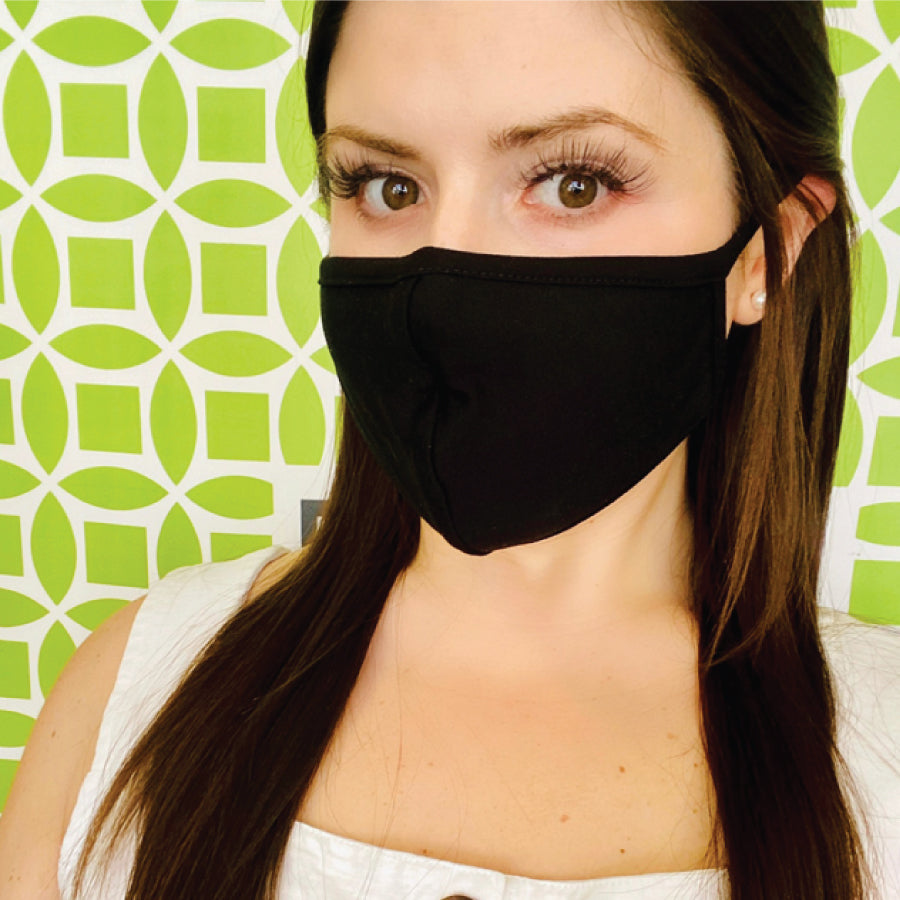 Black Perfect-Fit Unisex Reusable Washable Face Mask
