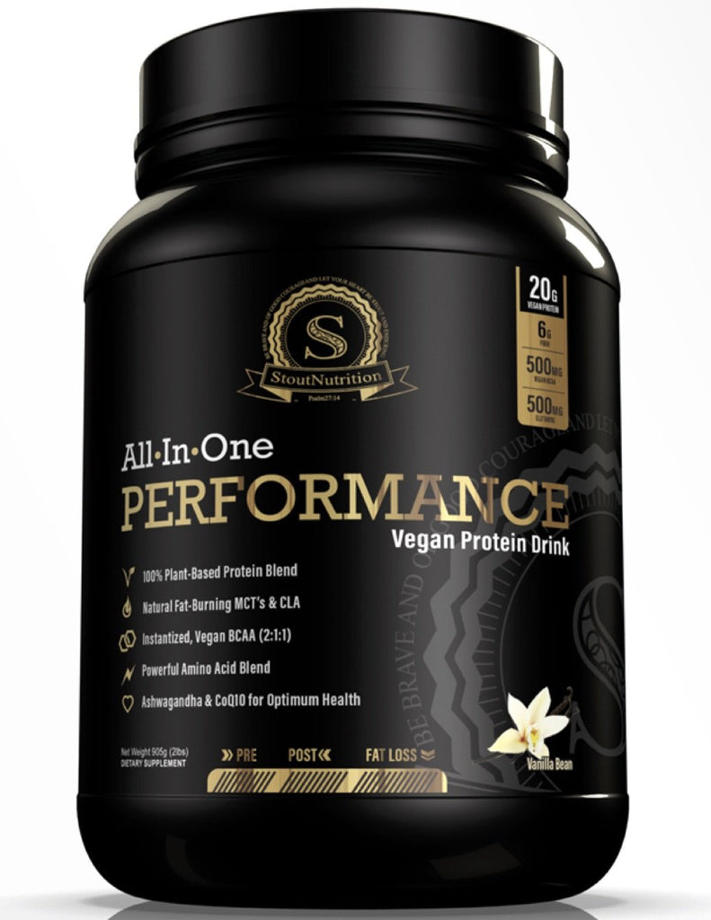 All-In-One Performance Vanilla Vegan Protein Drink by Stout Nutrition