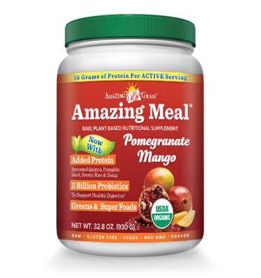 Amazing Meal Vegan Pomegranate Mango Protein Powder 15 Servings