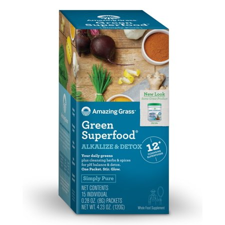 Green Superfood Alkalize & Detox Box of 15 Packets