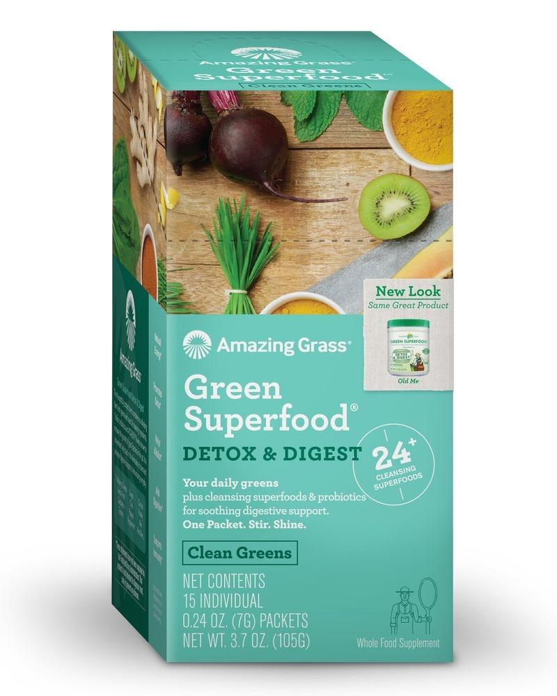 Green SuperFood Detox & Digest Amazing Grass Box of 15 Packets