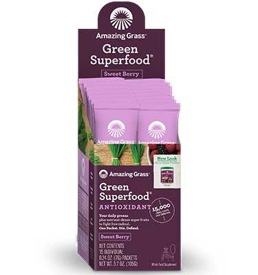 ORAC Antioxidant Boost Green Superfood Powder Box of 15 Single Packets