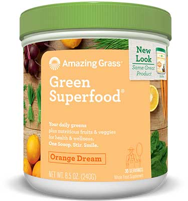 Orange Dreamsicle Green Superfood Powder 30 Servings