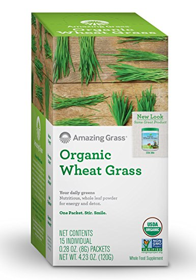 Organic Wheat Grass Powder Box of 15 Single Packets