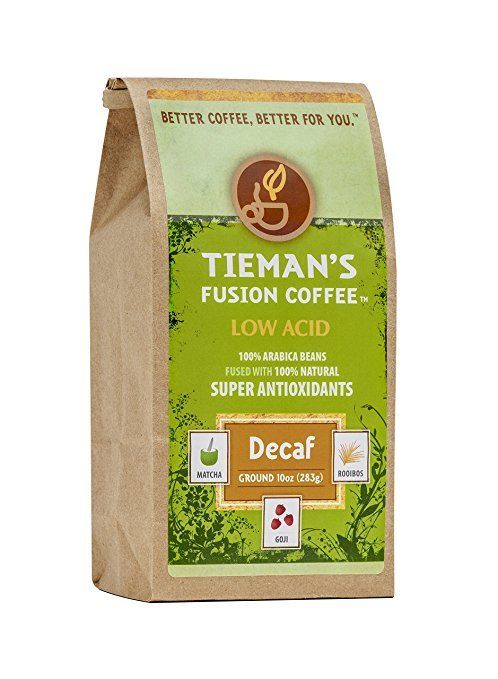 Tieman's Fusion Coffee Low Acid Decaf Ground