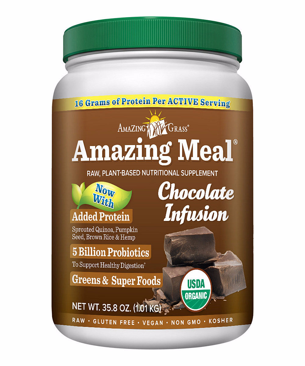 Amazing Meal Vegan Chocolate Protein Powder 30 Servings, Superfood ...