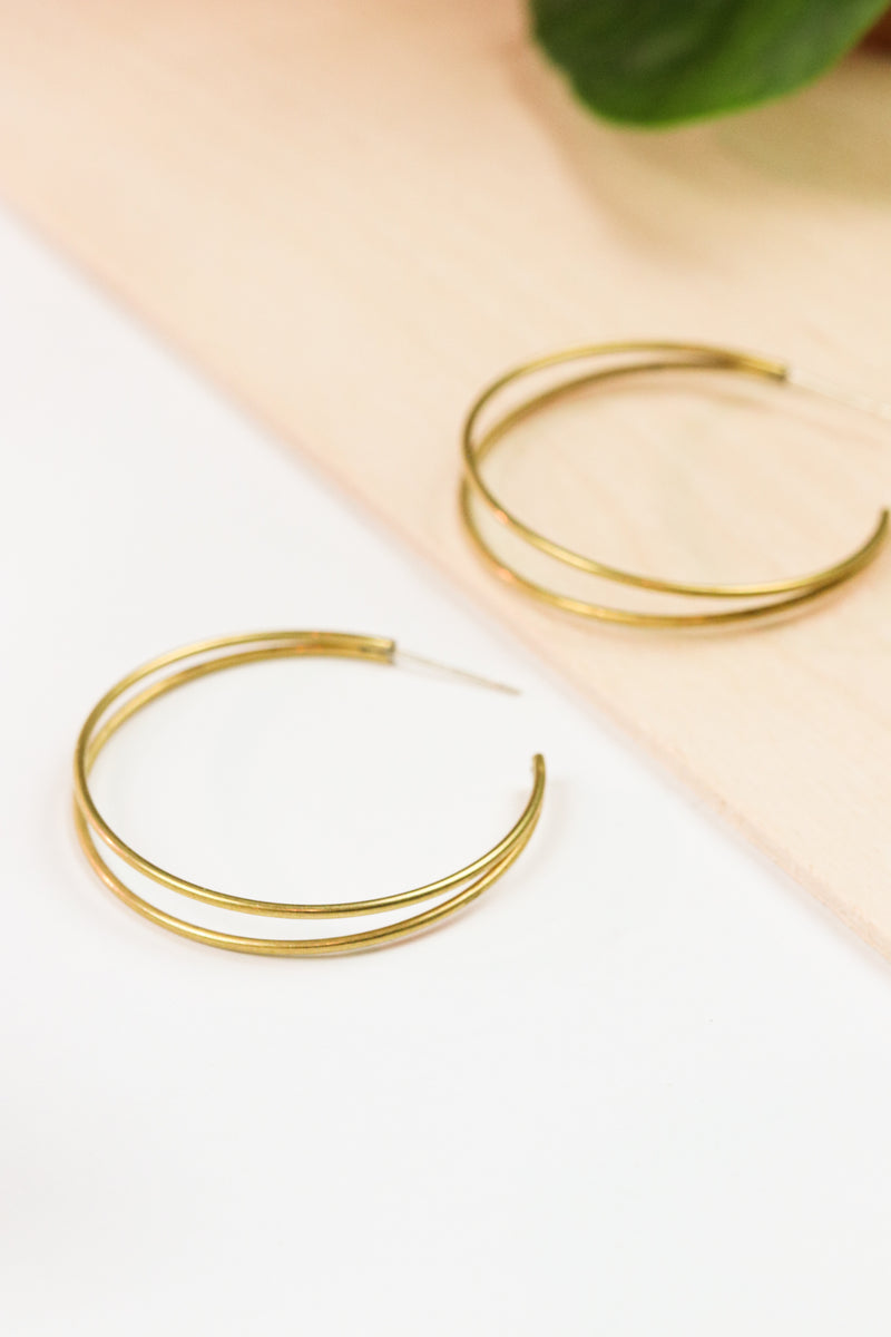 Double Time Brass Hoop