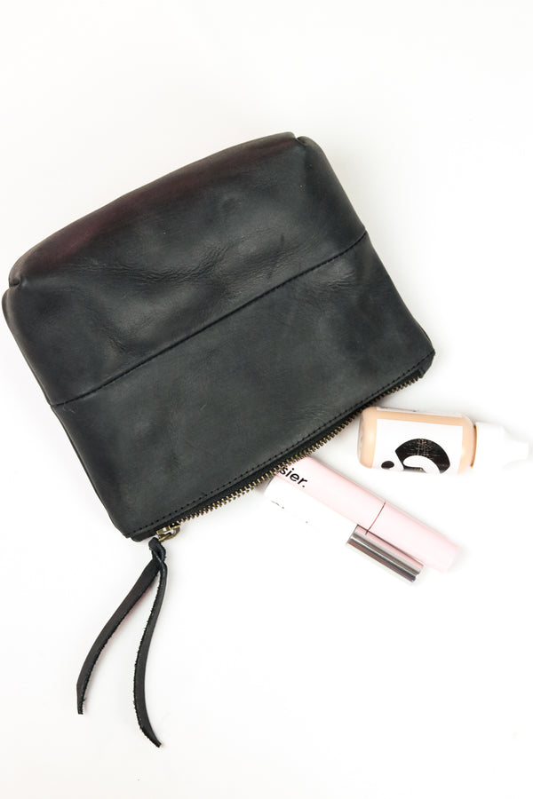 The Mini Makeup Bag- All Black