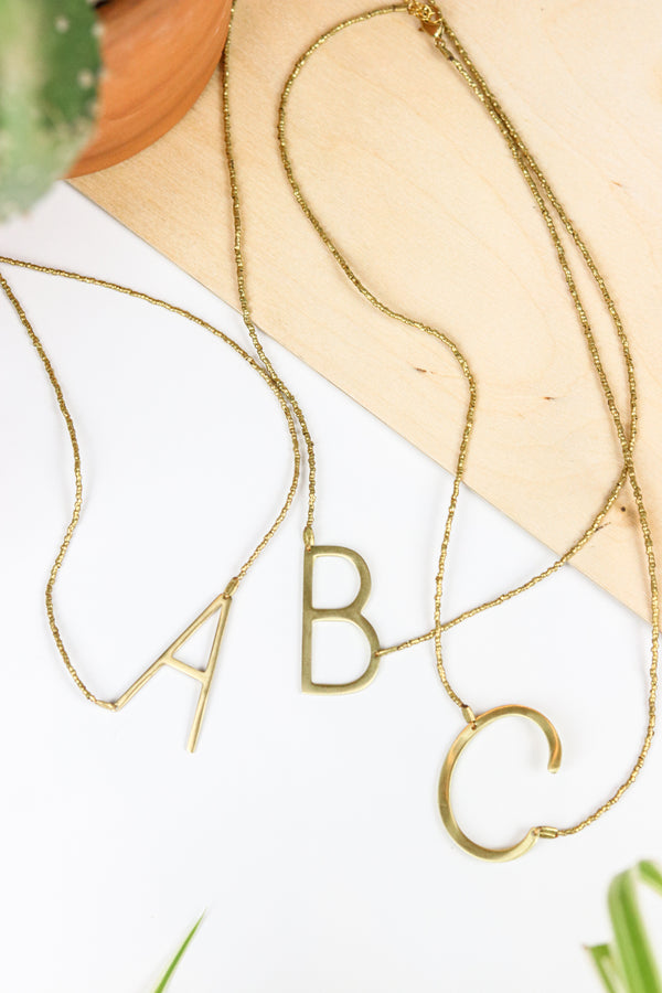 All Modern Initial Necklace