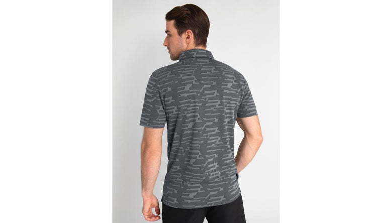 Calvin Klein Aztec Polo Charcoal Back
