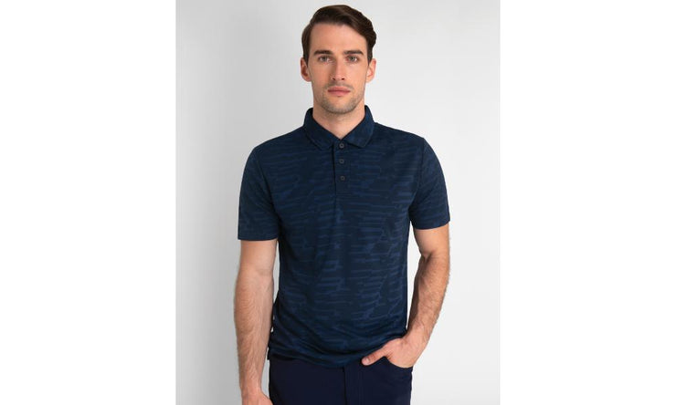 Calvin Klein Aztec Golf Polo Navy