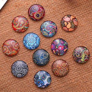 10mm Mixed Style Round Glass Cabochon Dome Jewelry Finding Cameo Pendant Settings 50pcs/lot K04752