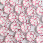 12mm Pink Corses Round Glass Cabochon Jewelry Finding Cameo Pendant Settings