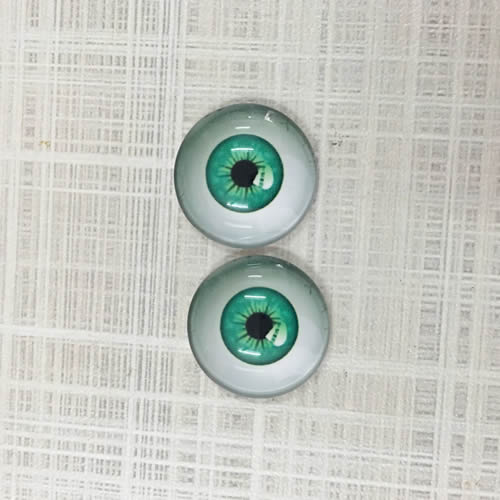 Creepy Eyes Round Glass Cabochon 12mm Jewelry Finding Cameo Pendant