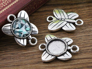 12mm Inner Size Antique Silver Fashion Style Base Setting Charms Pendant