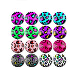 10mm 12mm 14mm 16mm 18mm 20mm 25mm Animal Mixed Pattern Round Glass Cabochon Fit Base Earring Setting