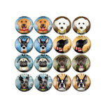 10mm 12mm 14mm 16mm 18mm 20mm 25mm Animal Dogs Puppy Round Glass Cabochon Mixed Pattern Fit Base Earring Setting