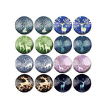 10mm 12mmm 14mm 16mm 18mm 20mm 25mm Elk Branch Round Glass Cabochon Mixed Pattern Fit Base Earring Setting