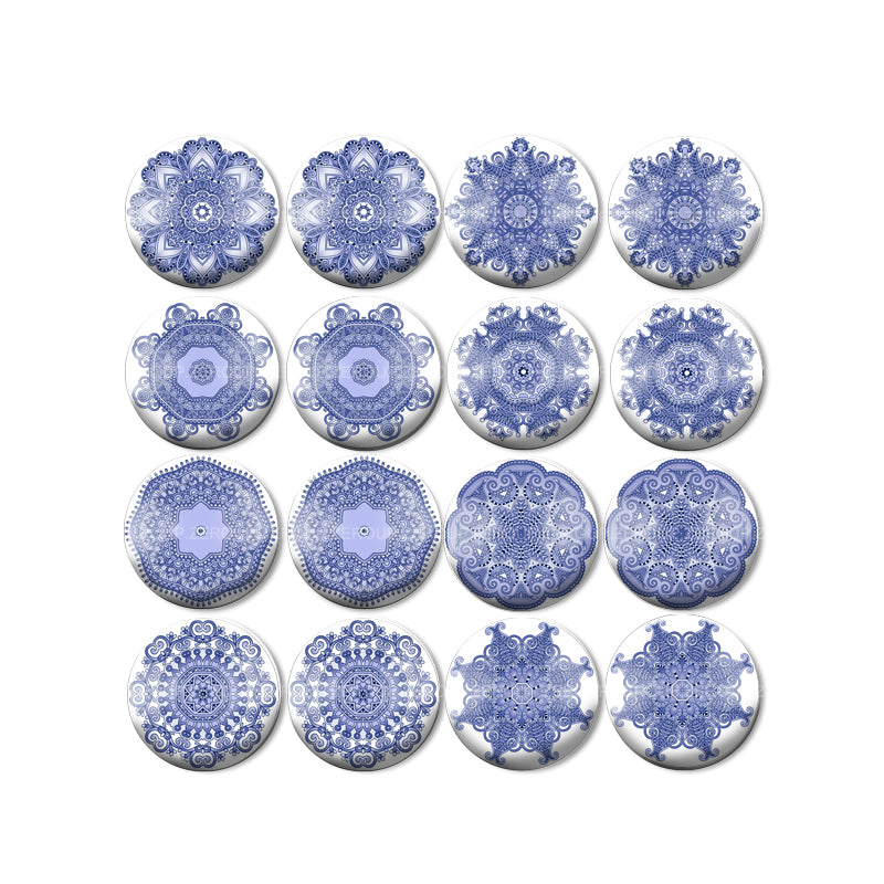 10mm 12mm 14mm 18mm 20mm 25mm Round Glass Cabochon New Decorative Pattern Picture Mixed Pattern Fit Base Earring Setting