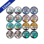 10mm 12mm 14mm 16mm 18mm 20mm 25mm Tree Branch Mixed Pattern Round Glass Cabochon Fit Base Earring Setting