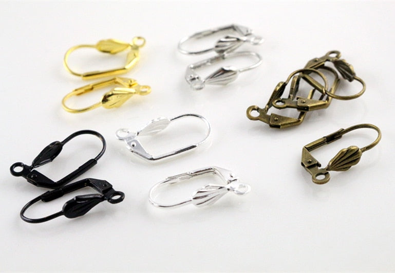 17x11mm High Quality 5 Colors Plated Brass French Earring Hooks Wire