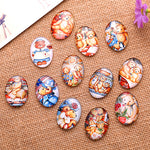 18x25mm Teddy Bears Oval Glass Cabochon Jewelry Finding Cameo Pendant Settings