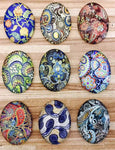 18x25mm Mixed Floral Oval Glass Cabochon Jewelry Finding Cameo Pendant Settings
