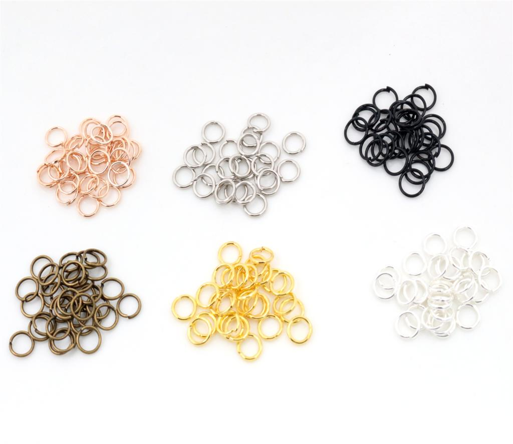 3mm 4mm 6mm 7mm 8mm 10mm Metal DIY Jewelry Findings Open Single Loops Jump Rings & Split Ring For Jewelry Making