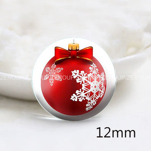 12mm 20mm 25mm 30mm DIY Christmas Ball Round Glass Cabochon Jewelry Finding Fit Cameo Blank Settings