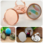 25mm 3 Colors Plated Brass Adjustable Ring Blank Base Fit Buttons Ring Bezels Settings