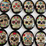 30x40mm Skull Candy Oval Glass Cabochon Jewelry Finding Cameo Pendant Settings