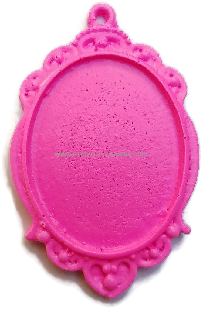 12 Resin Frame Setting Bezel Victorian Style fit 40x30 cameo PINK 31.2