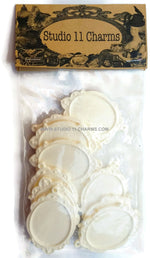 12 Resin Frame Setting Bezel Victorian Style fit 40x30 cameo WHITE 31.3
