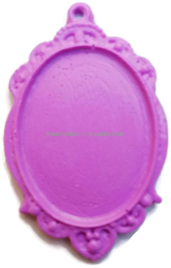12 Resin Frame Setting Bezel Victorian Style fit 40x30 cameo PURPLE 31.5