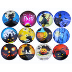 12mm 14mm 16mm Round Glass Cabochon Halloween Design Handmade Photo Dome Cover DIY Ornament Settings