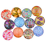 12mm 14mm 16mm Round Glass Cabochon Handmade Pasley Pattern Style Photo Glass Cabochons & Glass Dome Cover DIY Ornament Settings