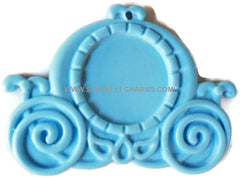 12 Resin Frame Setting Bezel Victorian Style fit 1in or 25mm cameo BLUE 53.1