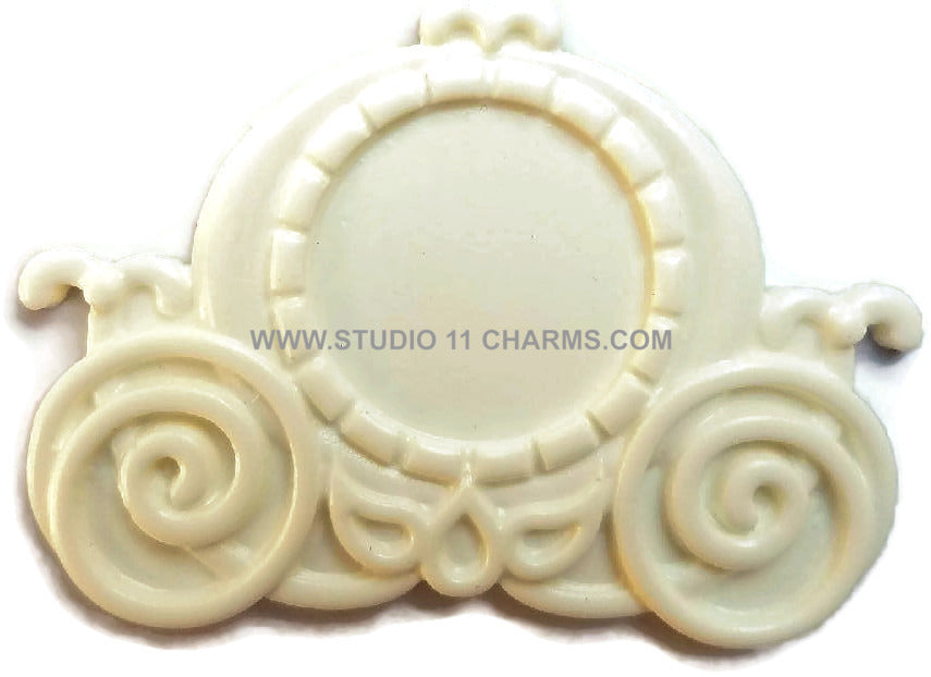 12 Resin Frame Setting Bezel Victorian Style fit 1in or 25mm cameo WHITE 53.3