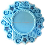 12 Resin Frame Setting Bezel Victorian Style fit 1in or 25mm cameo BLUE 54.1