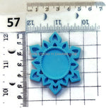 12 Resin Frame Setting Bezel Snow Flake Style fit 1in or 25mm cameo PURPLE 57.5
